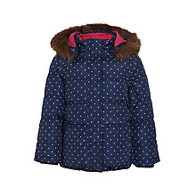 Buy John Lewis Girls' 2-in-1 Spotted Coat, Navy Online at johnlewis.com
