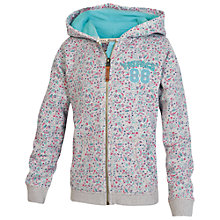 Buy Fat Face Girls' Heritage Floral Hoodie, Grey Marl Online at johnlewis.com