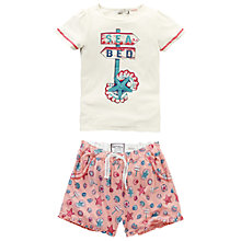 Buy Fat Face Girls' Seaside Shortie Pyjamas, Ecru Online at johnlewis.com