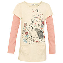 Buy Fat Face Girls' Long Sleeve Rosie Rabbit Tunic Top, Oatmeal Online at johnlewis.com