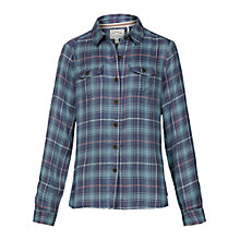 Buy Fat Face Girls' Cassie Check Shirt, Ink Online at johnlewis.com