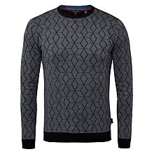 Buy Ted Baker Lochee Geo Cashmere Blend Jumper, Grey Marl Online at johnlewis.com