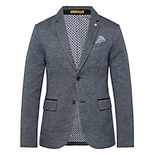 Buy Ted Baker Limboe Herringbone Jersey Blazer, Navy Online at johnlewis.com