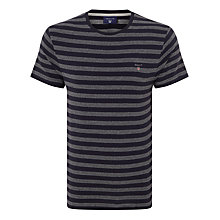 Buy Gant Structured Stripe T-shirt, Navy Online at johnlewis.com