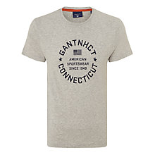 Buy Gant NHCT T-Shirt, Grey Online at johnlewis.com