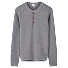Buy Jigsaw Merino Rib Henley Long Sleeve T-Shirt, Silver Online at johnlewis.com