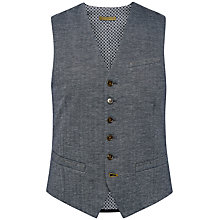 Buy Ted Baker Limbolo Herringbone Jersey Waistcoat, Navy Online at johnlewis.com