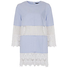 Buy French Connection Kyra Tunic Top, Blue/White Online at johnlewis.com