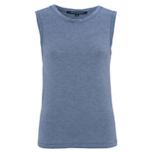 Buy French Connection Marley Jersey Tank Top, Blue Grey Marl Online at johnlewis.com