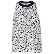 Buy French Connection Boccara Lace Sleeveless Top, Mineral Green Multi Online at johnlewis.com