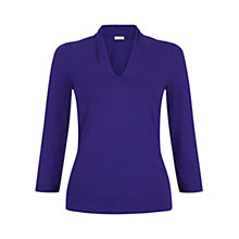 Buy Hobbs Aimee Top, Grape Online at johnlewis.com