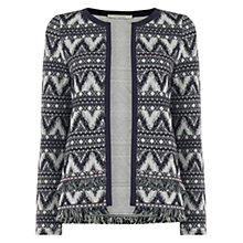 Buy Oasis Dakota Jacquard Jacket, Multi Blue Online at johnlewis.com