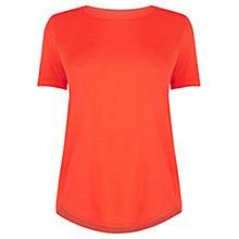 Buy Oasis The Perfect T-Shirt, Mid Orange Online at johnlewis.com