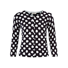 Buy Hobbs Mono Floral Cardigan, Navy/Ivory Online at johnlewis.com