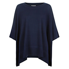 Buy Hobbs Clara Poncho, Winter Blue Mel Online at johnlewis.com