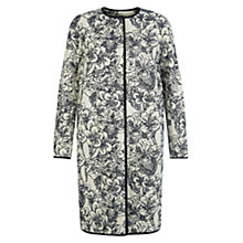Buy Hobbs Josie Coat, Navy Ivory Online at johnlewis.com