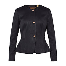 Buy Ted Baker Eiraa Textured Peplum Suit Jacket, Black Online at johnlewis.com