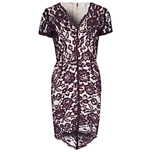 Buy True Decadence Scallop Lace Dress, Purple Online at johnlewis.com