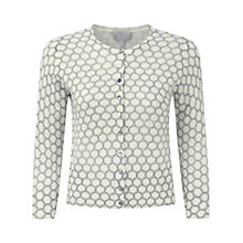 Buy Pure Collection Campion Cashmere Crop Cardigan, Soft White/Navy Online at johnlewis.com