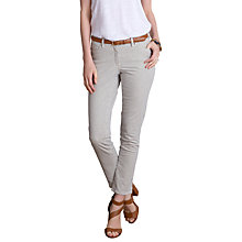 Buy Pure Collection Deane Cropped Jeans, Navy/Ecru Online at johnlewis.com