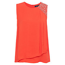 Buy French Connection Cecil Top, Masai Red Online at johnlewis.com