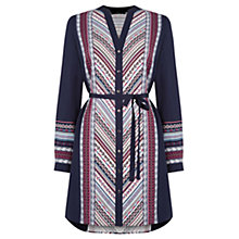 Buy Oasis Navaho Stripe Shirt Dress, Navy/Multi Online at johnlewis.com