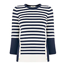 Buy Oasis Nautical Stripe Jumper, Navy/Ivory Online at johnlewis.com