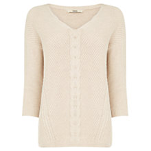 Buy Oasis Cotton Cable Knit Jumper Online at johnlewis.com