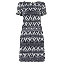 Buy Oasis Dakota Jacquard Dress, Multi Blue Online at johnlewis.com