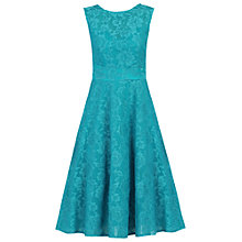 Buy Jolie Moi Lace Bonded Fit And Flare Dress, Teal Online at johnlewis.com