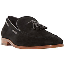 Buy Bertie Ryon Tassel Detail Suede Loafers, Black Online at johnlewis.com