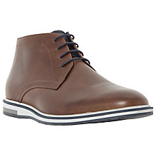 Buy Dune Cape Cod Wedge Sole Leather Chukka Boots, Tan Online at johnlewis.com