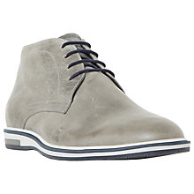 Buy Dune Cape Cod Wedge Sole Leather Chukka Boots, Grey Online at johnlewis.com