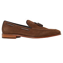 Buy Bertie Ryon Tassel Detail Suede Loafers, Tan Online at johnlewis.com