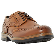Buy Bertie Byro Cleated Leather Lace-Up Brogues, Tan Online at johnlewis.com