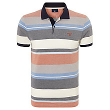 Buy Gant Multi Stripe Pique Polo Shirt, Multi Online at johnlewis.com