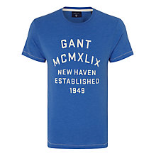 Buy Gant Mcmxlix T-shirt, Palace Blue Online at johnlewis.com