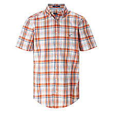Buy Gant Madras Sportswear Plaid Short Sleeve Shirt Online at johnlewis.com