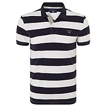 Buy Gant Contrast Collar Bar Stripe Polo Shirt Online at johnlewis.com