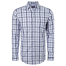 Buy Gant Dobby Check Long Sleeve Shirt, Hamptons Blue Online at johnlewis.com