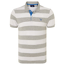 Buy Gant Contrast Collar Bar Stripe Polo Shirt, Grey Online at johnlewis.com