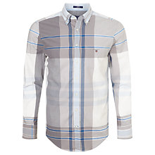 Buy Gant Telltail Madras Check Shirt, Hamptons Blue Online at johnlewis.com