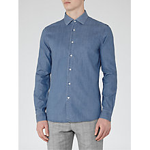 Buy Reiss Atomic Slim Fit Denim Shirt, Blue Online at johnlewis.com