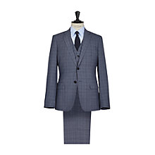 Buy Reiss Alaric Checked Three Piece Modern Fit Suit, Airforce Blue Online at johnlewis.com