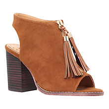 Buy Miss KG Saana Block Heeled Peep Toe Sandals, Tan Suedette Online at johnlewis.com