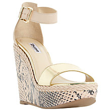 Buy Dune Kandy Wedge Heeled Sandals, Nude Online at johnlewis.com
