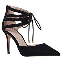 Buy Carvela Krisp Tie Cut Out Stiletto Court Shoes, Black Suedette Online at johnlewis.com