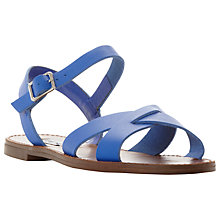 Buy Steve Madden Dublin Cross Strap Flat Sandals Online at johnlewis.com