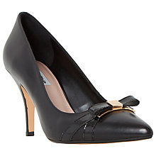 Buy Dune Anora Stiletto Heeled Bow Court Shoes Online at johnlewis.com