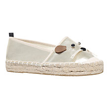 Buy Miss KG Dayton Mouse Espadrilles, Gold Online at johnlewis.com